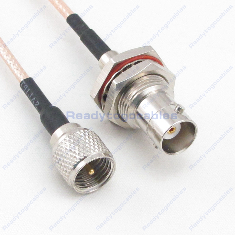 USA-CA RG316 SMC FEMALE to BNC MALE Coaxial RF Pigtail Cable